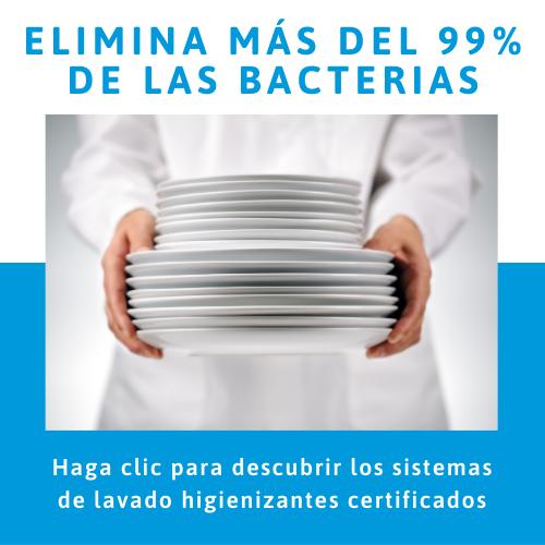 Elimina más del 99% de las bacterias